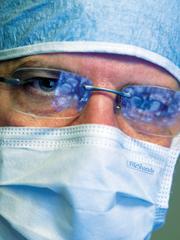 Closeup of Dr. Friedman at Work