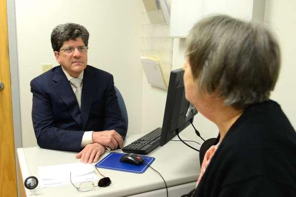Dr. Friedman and patient