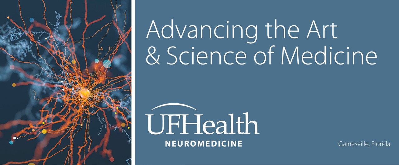 neuron burst photo and uf health banner