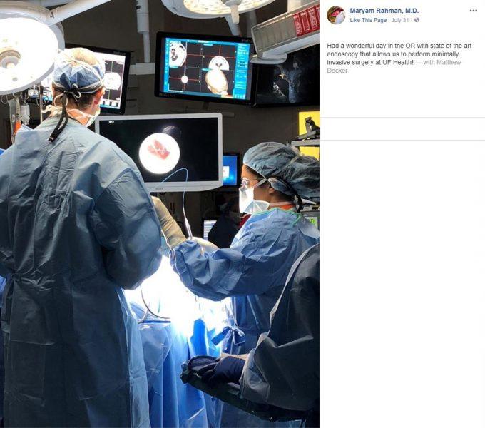 Dr. Rahman endoscopy post