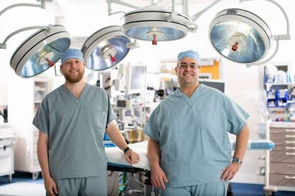 Dr. Governale and Dr. Blatt Operating Room