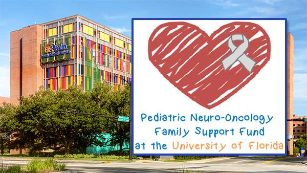 UF Health Children's Hospital with Pediatric Neuro-Oncology Family Support Fund logo