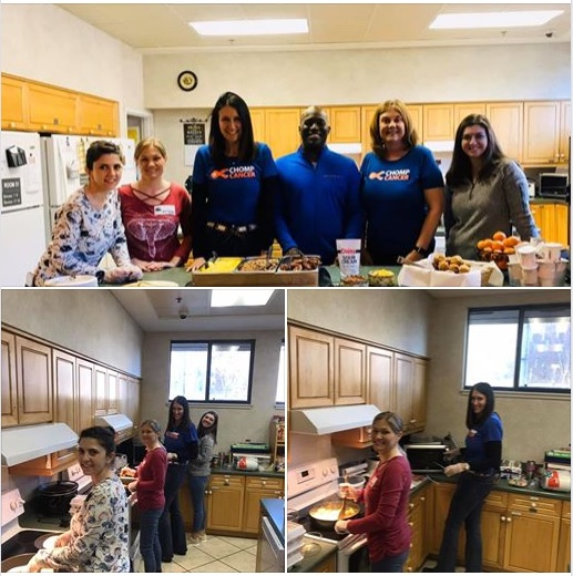 February 2020 - cooking and serving breakfast to families staying at the Ronald McDonald House